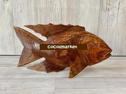 Статуэтка из дерева Рыбка 30 см.