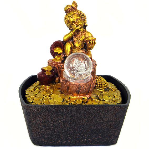 Домашний фонтан Бадда на монетах 20см