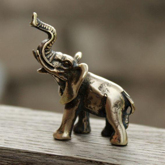 Слоник статуэтка из бронзы 38*22*41мм