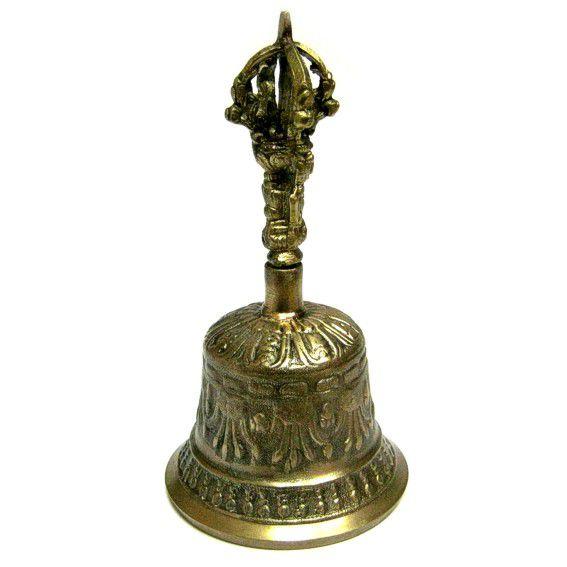 Поющий колокол из бронзы 14 см