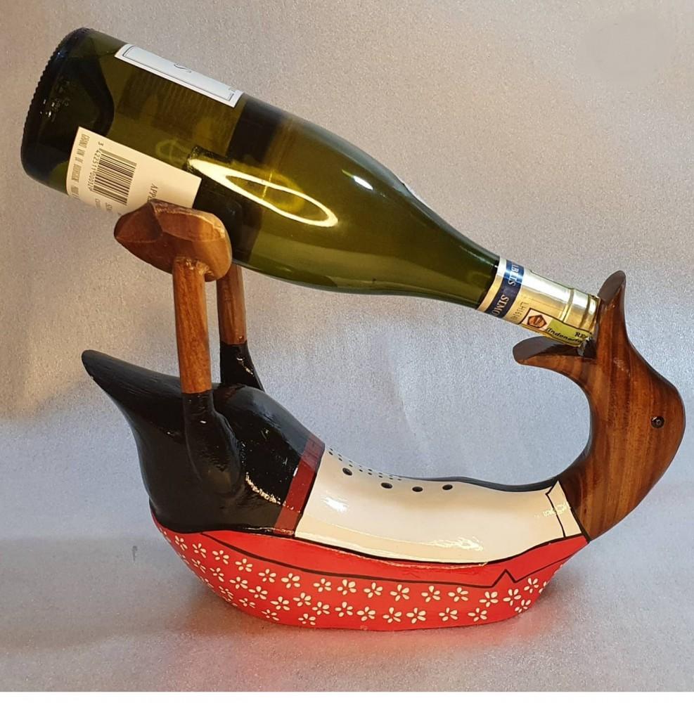Декоративная подставка под вино в виде утки 40х30см