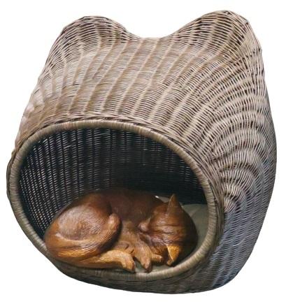 Домик для кошки (ротанг) 55х41х50 см