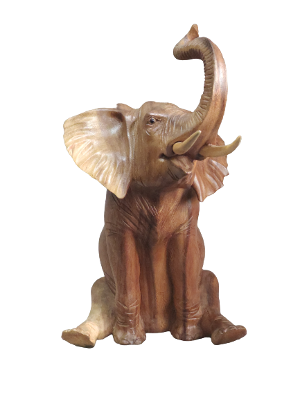Статуэтка слон сидячий суар 30 cm