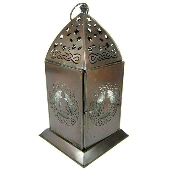 Подсвечник подвесной Будда 30см, металл