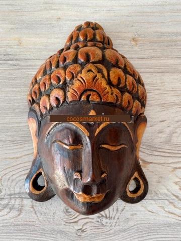 Маска из дерева с лицом Будды 20