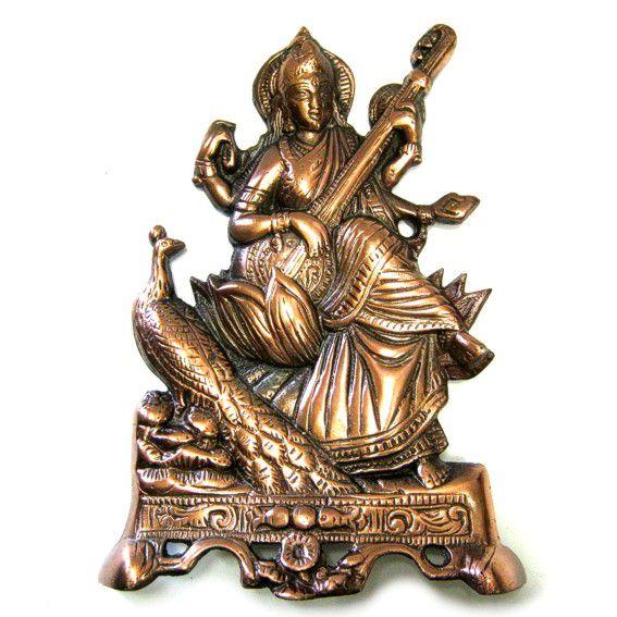 Фигура Богини Сарасвати 26см, силумин