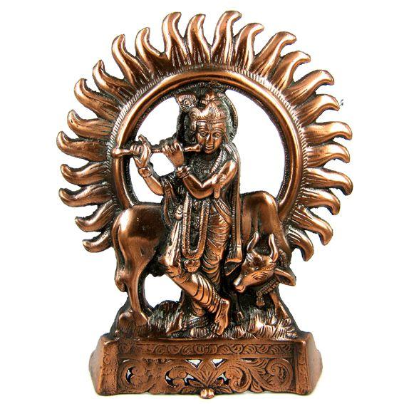 Фигура Кришна 27см , силумин