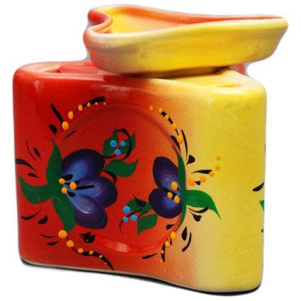 Аромалампа из керамики Синие цветы 10см
