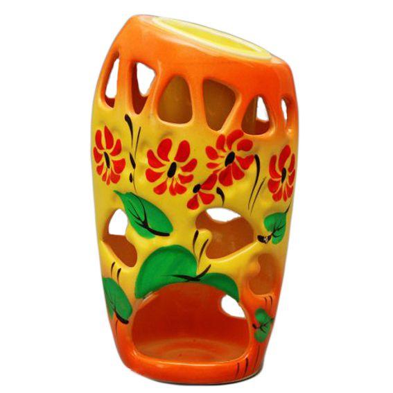 Аромалампа из керамики Оранжевый микс 14см