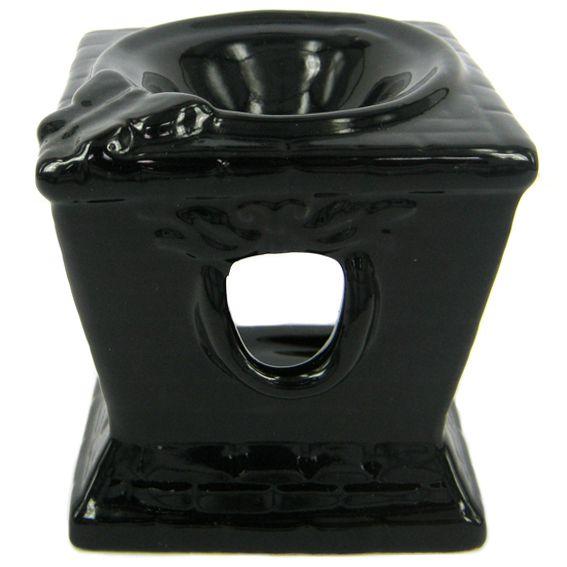 Аромалампа Черный лекарь керамика 8х9см