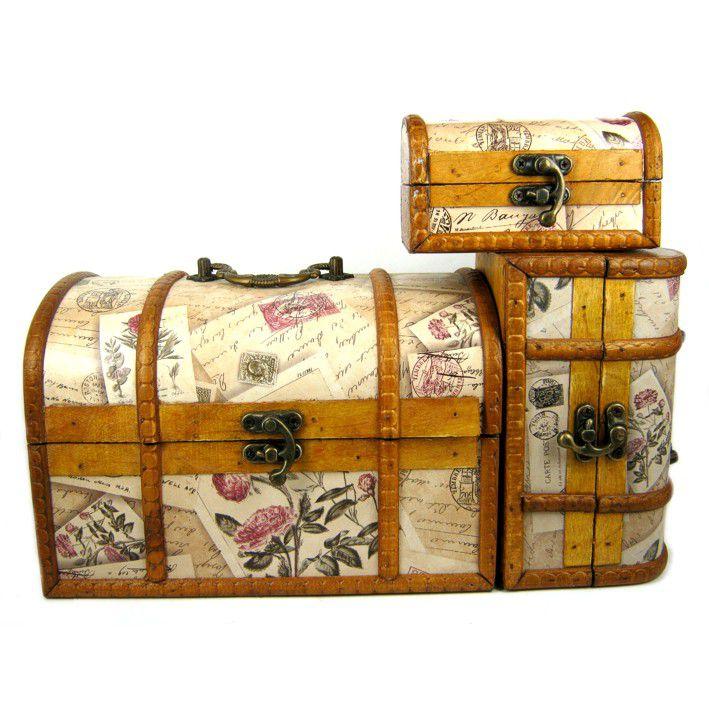 Сундуки - шкатулки для хранения 3 в 1 22х15х15см