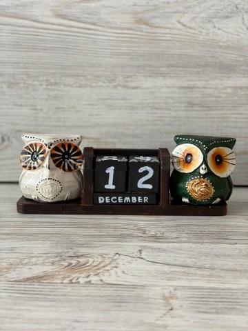 Вечный календарь Две совы 17,5х6,5 см