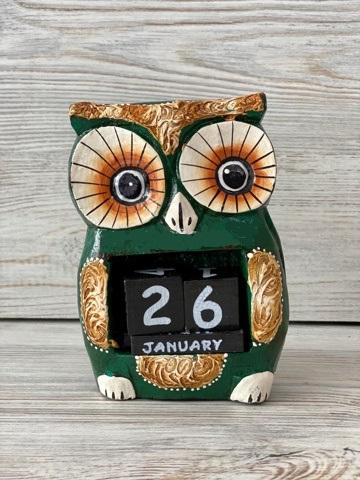 Вечный календарик Совка Сплюшка 13 см