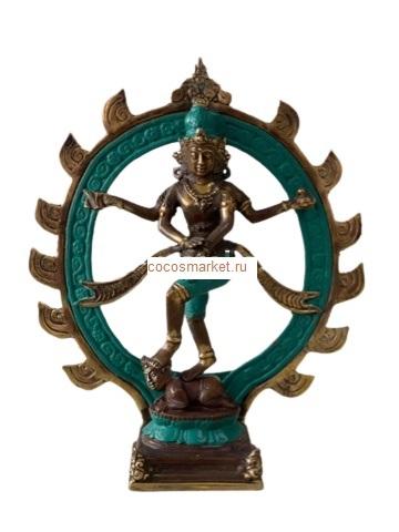 Фигура бронзовая Король танцев Натараджа 25см, силумин