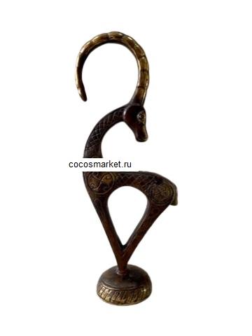 Фигура Антилопа 22 см, бронза