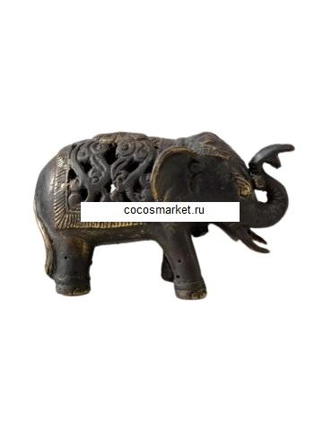 Статуэтка бронзовый слоник:10х6 см