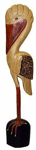 """Статуэтка """"Пеликан"""" 50см из дерева Альбиция"""