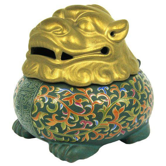 Аромакурительница Китайский Дракон 9х11см керамика