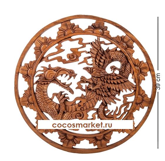 Панно индонезийское Дракон 40 см