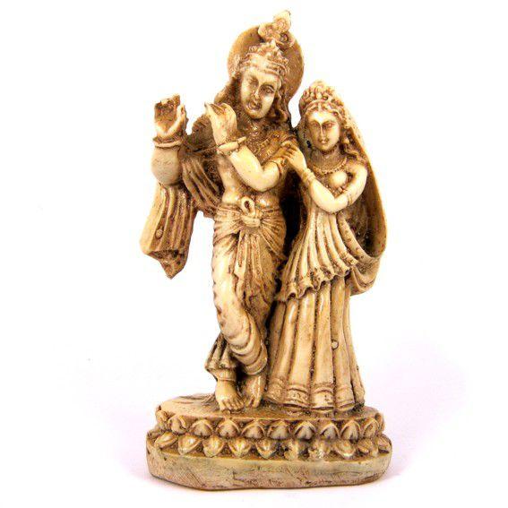 Статуэтка Кришна и Радха 15см пластик
