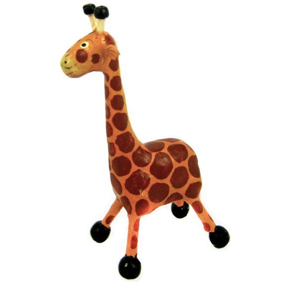 Фигурка жирафика из дерева 13х7 см