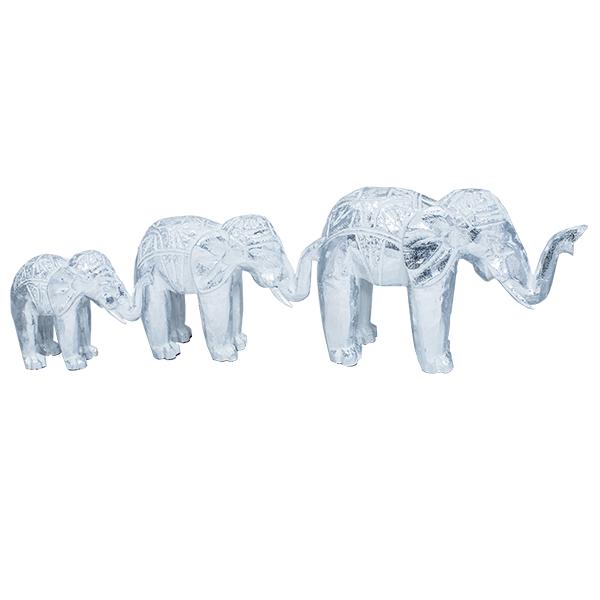 Статуэтки из дерева три слона 30,24,19см