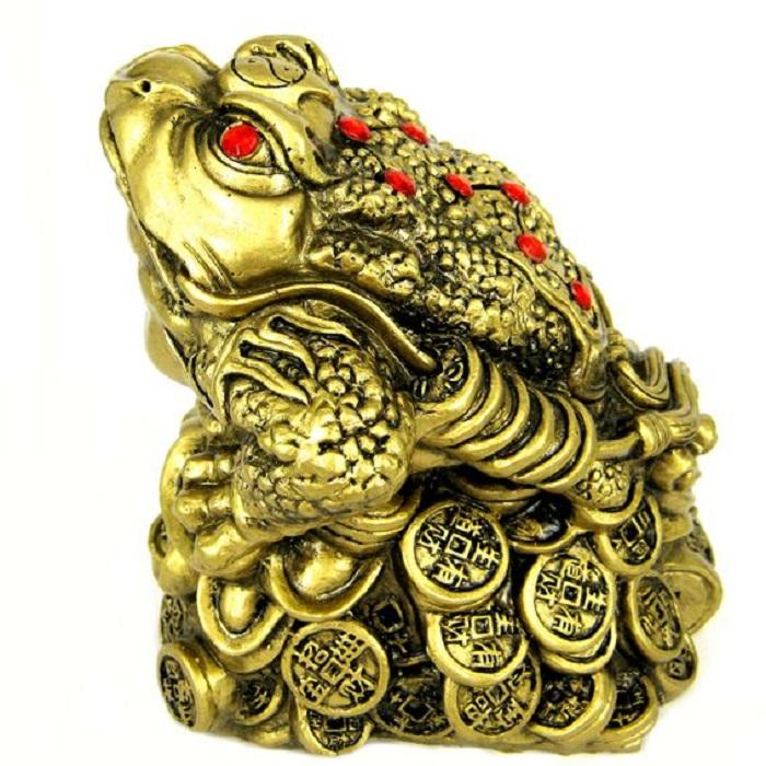 Жаба богатства - фигурка фэншуй 16х14 см