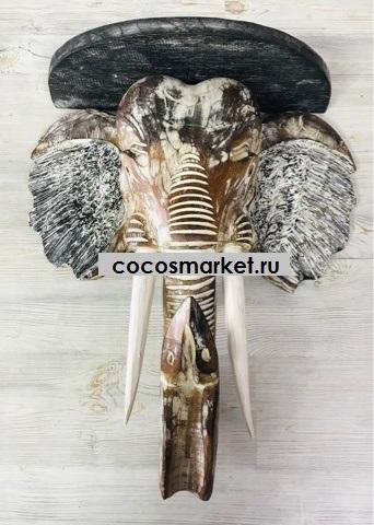 Консоль/ полка с головой слона 50см