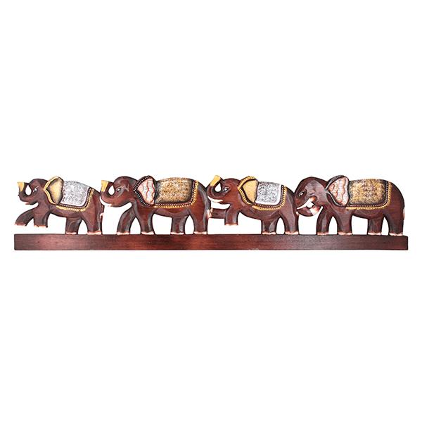 Панно для крючков Четыре Слона 100 см