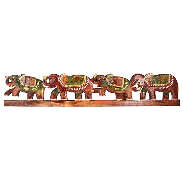Панно для ключей Четыре Слона 100 см