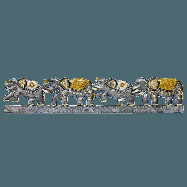 Панно для крючков Семья Слонов 100 см