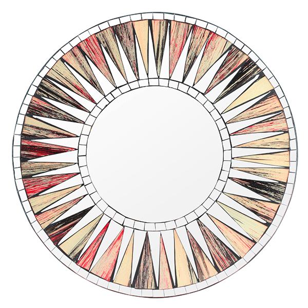 Зеркало Солнечный дискк мозаика 40 см