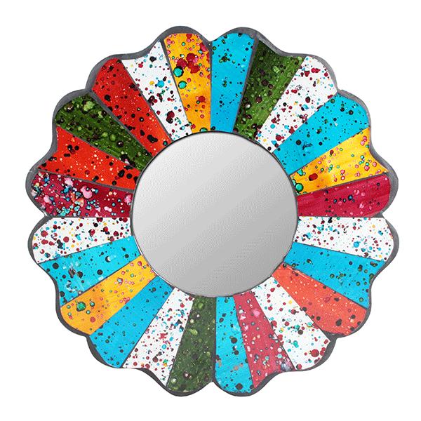 Зеркало Разноцветная ромашка мозаика 30 см