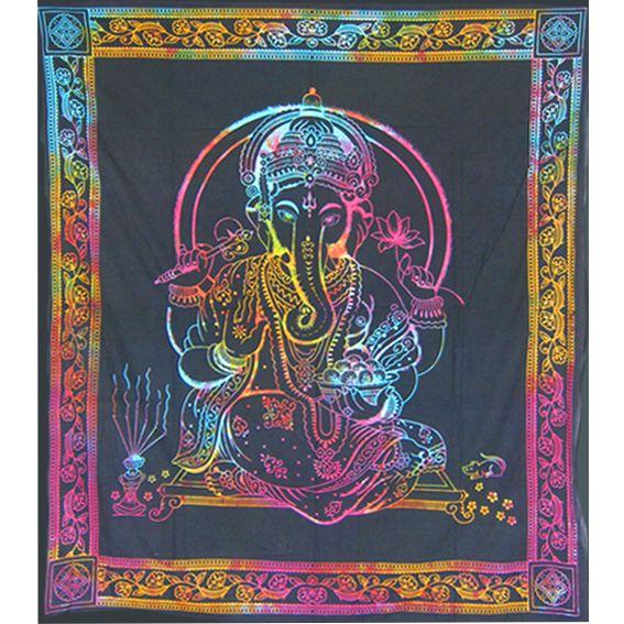 Цветное полотное с фигурой Ганеша 2,2х2м