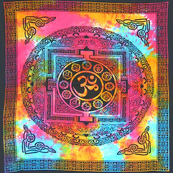 """Цветное полотно из Индии """"Знак ОМ"""" 2,2х2м"""