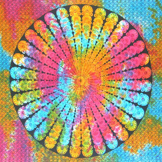 """Индийское полотно """"Цветной Узор"""" 2,2х2м"""
