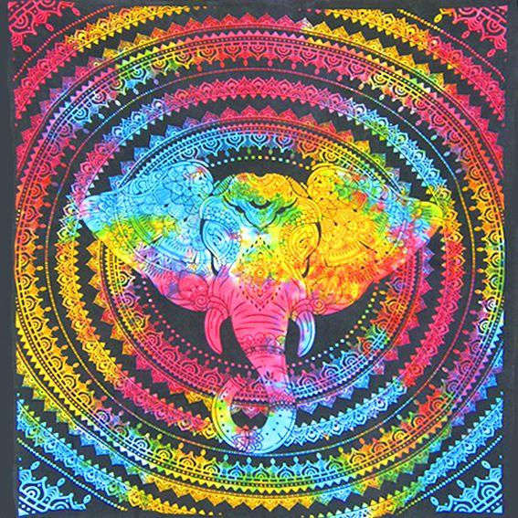 """Экзотическое полотно  """"Радужный Слон"""" 2,2х2м"""