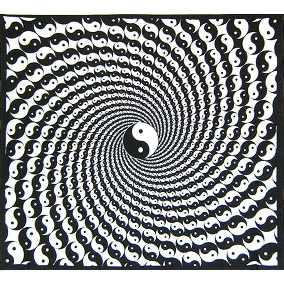 """Черно-белое полотно """"Инь Ян"""" 2,2х2м"""