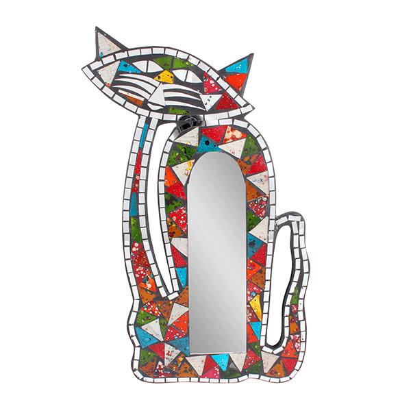 Фантазийное Зеркало Мартовский кот мозаика 27х45 см