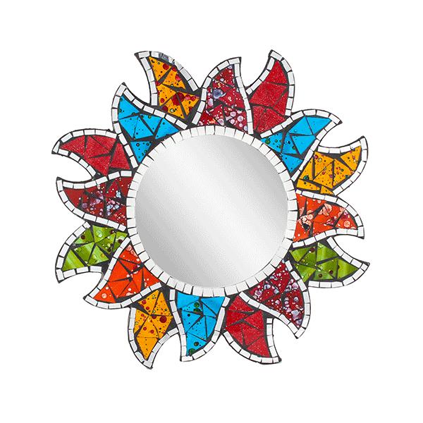 Фантазийное Зеркало Цветной подсолнух мозаика 40 см