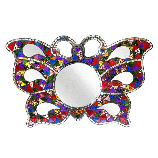 Декоративное Зеркало Бабочка мозаика  60х40 см