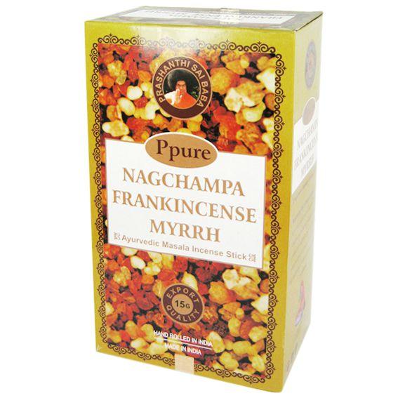 Индийские благовония Frankincense Myrrh стелющийся дым пуля 12шт