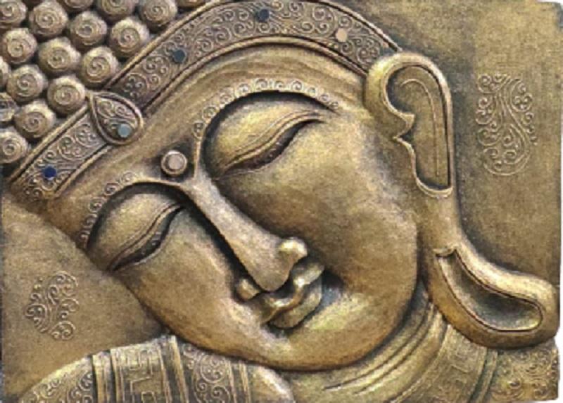 Золотое панно в восточном стиле Будда 30х40см