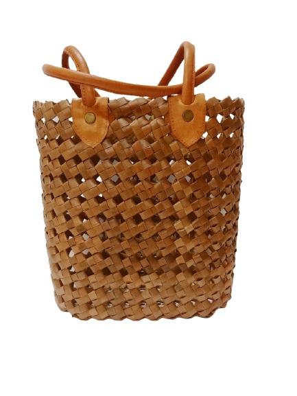 Плетеная сумка из натуральных материалов (S) 40х35 см