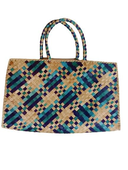 Женская плетеная сумка Голубая мечта (S)