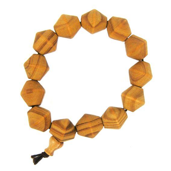Браслет из деревянных бусин 1,6 см