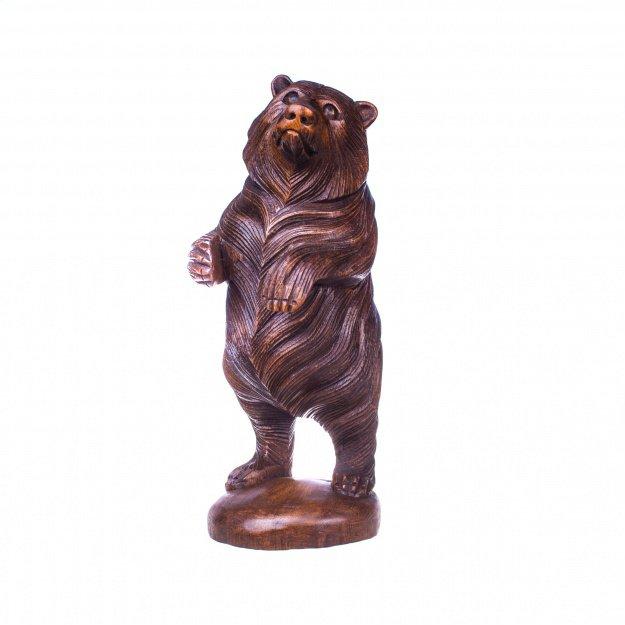 Скульптура из дерева Медведь 40 см