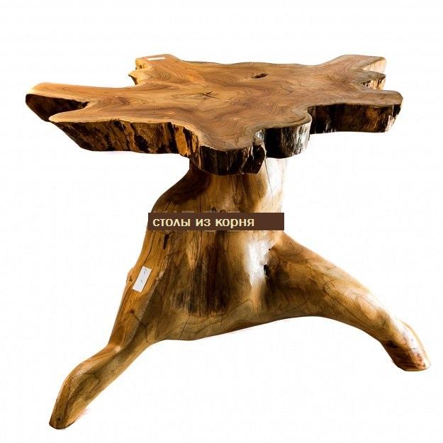 Декоративный Столик кофейный из тика 40-50 см