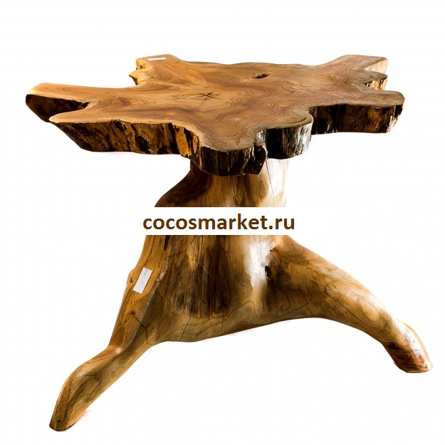 Стол коктельный из массива тика 60 см