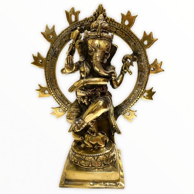 Бронзовый Ганеша - бог благополучия 18 см